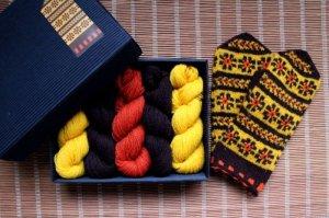 画像1: ミトンの手編みキット 6 (ヴィゼメ地方2)