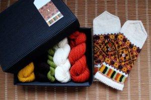 画像1: ミトンの手編みキット 4 (ゼムガレ地方2)